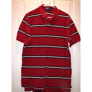 Polo by Ralph Lauren Men's Red/White/Blue striped